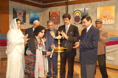 Exhibition of Paintings by Bharti Sharma Inaugurated at ISFI