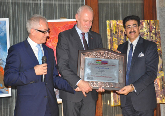 Sandeep Marwah Honored by the President of National Assembly of Slovenia