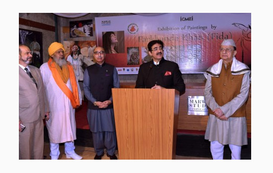 Exhibition of Paintings by Farkhanda at Sufi Festival