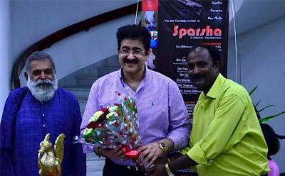 Sandeep Marwah Inaugurated Painting Exhibition SPARSHA