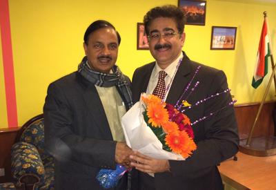 Dr Mahesh Sharma Appreciated Determination of Sandeep Marwah