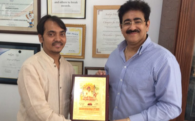 Sandeep Marwah Honored By Young Film Maker's Association