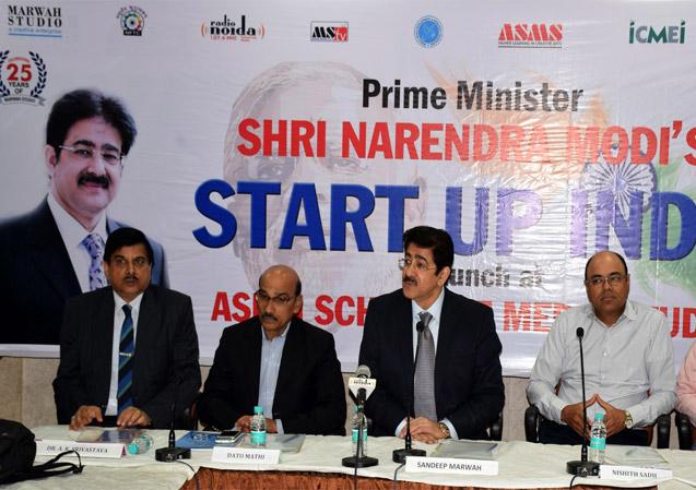 Prime Minister's Start Up India Program at Marwah Studio