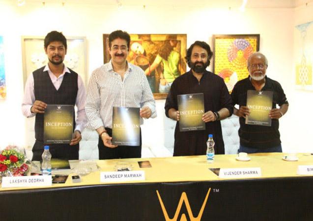 Sandeep Marwah Inaugurated Exhibition -Inception