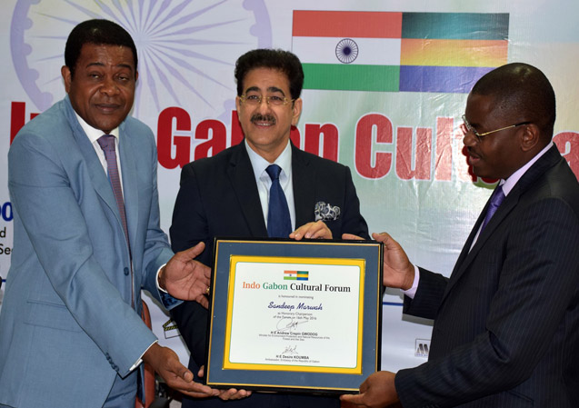 Sandeep Marwah Honored by Government of Republic of Gabon
