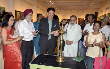 Exhibition of Paintings Myriad Hues Inaugurated by Sandeep Marwah