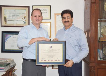 Sandeep Marwah Honored Jeff Burke With IFTC Membership