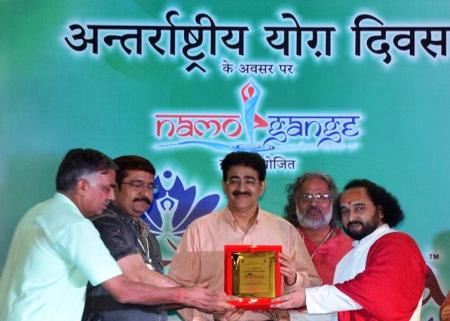 Sandeep Marwah Honored on International Yoga Day