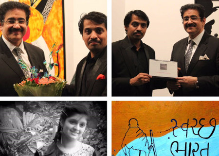 Sandeep Marwah Inaugurated Exhibition of Mitalee Makwana
