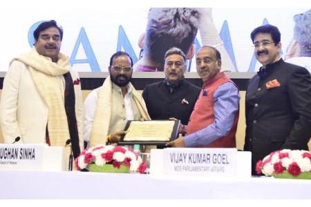 B.N. Tewari Honored With Hindi Cinema Sevi Samman