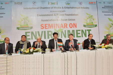 Book of Pankaj Singh Released at International Environment Seminar