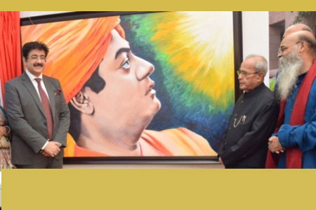 Inauguration of Exhibition of Paintings by Dipak Ghosh