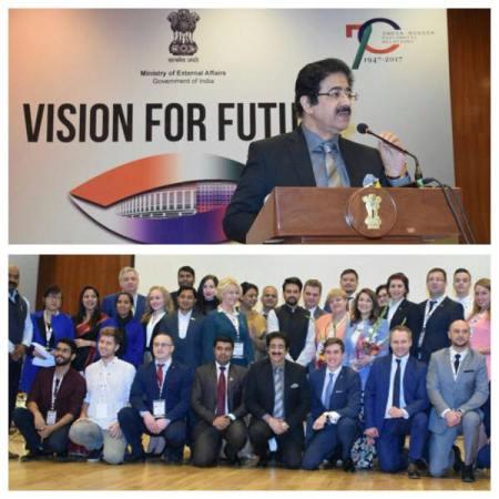 Sandeep Marwah Addressed BRICS Delegates at New Delhi