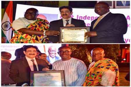 Sandeep Marwah Honored On The National Day of Ghana