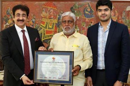 Minister Prem Prakash Pandey at Marwah Studios