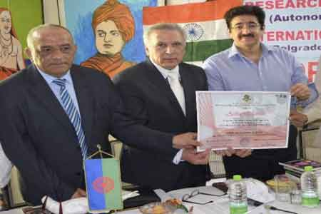 Sandeep Marwah Honored by Serbian Research Centre