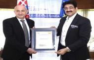 Zingmund Bertok Patron to Indo Slovakia Cultural Forum