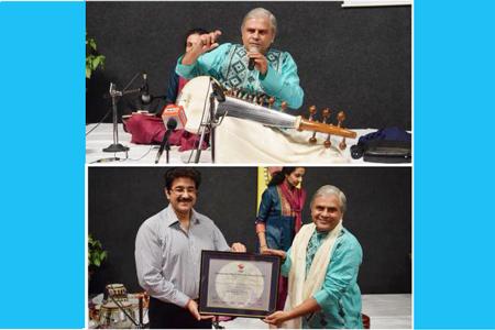 Workshop by Pandit Biswajit Roy Chaudhary at AAFT