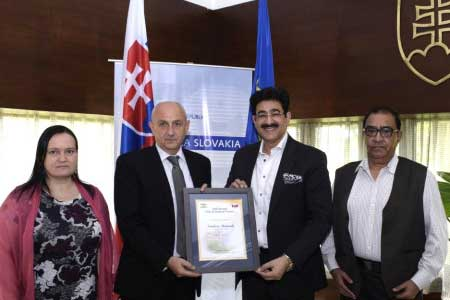 Sandeep Marwah Honored And Nominated Chair for Slovakia Forum