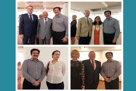 Sandeep Marwah Special Guest at Polish Exhibition