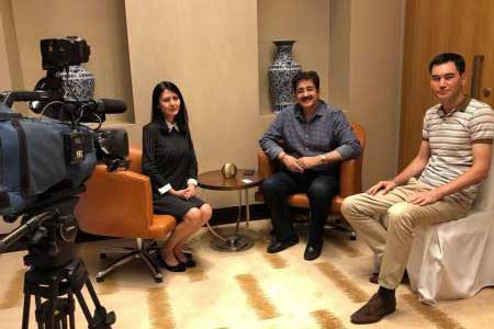 Sandeep Marwah Covered by Uzbekistan Television
