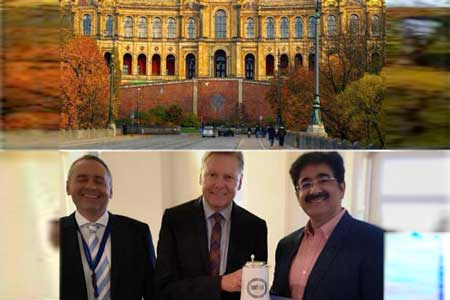 Sandeep Marwah Honored in Bavarian Parliament in Munich