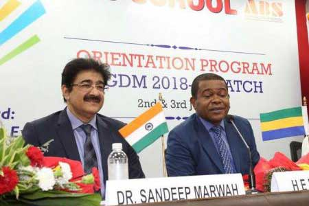ICMEI Invited Ambassador of Gabon For Inauguration of New Batch
