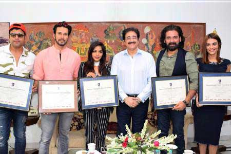 Team of Feature Film Teri Bhabhi Hai Pagle at Marwah Studios