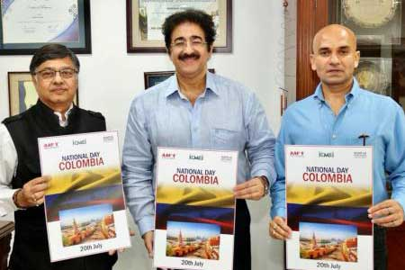 National Day of Colombia Celebrated at Marwah Studios