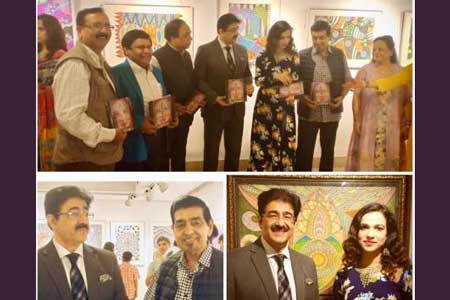 Sandeep Marwah Inaugurated Exhibition of Paintings by Meher Juneja