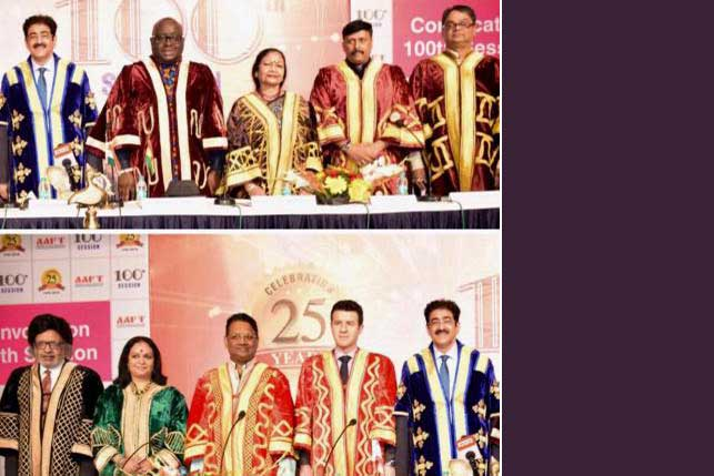 100Th Convocation of AAFT Saw Top Dignities