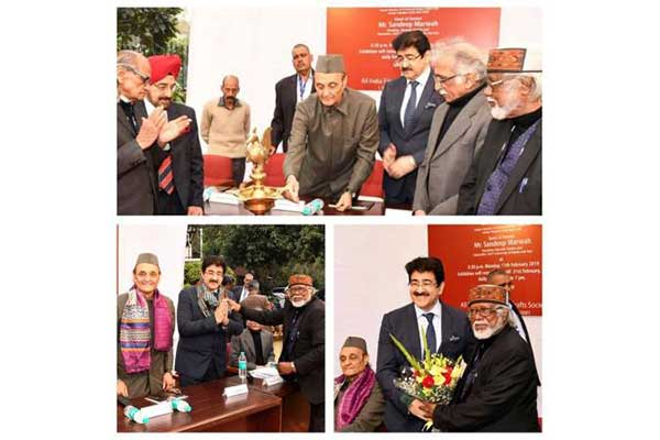 Sandeep Marwah Inaugurated Exhibition of Paintings by Biman Das