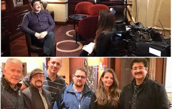 Visit of Sandeep Marwah Covered by Hungarian Television