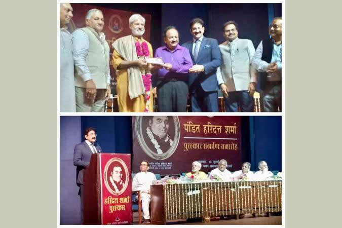 Pt. Haridutt Sharma Award For Media Person Is A good Step- Sandeep Marwah
