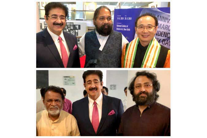 Sandeep Marwah Special Guest at Korean Exhibition