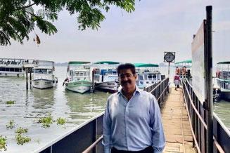 Sandeep Marwah at Kochi In Kerala to Study Tourism