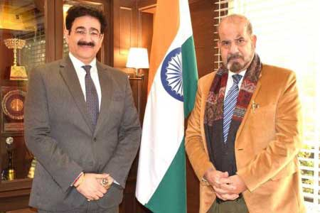Chief Commissioner of Kashmir Met Chief Scout For India Sandeep Marwah