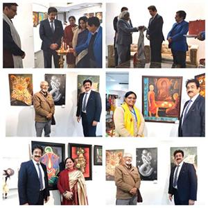 Sandeep Marwah Inaugurated Group Show by Majlis Art Group