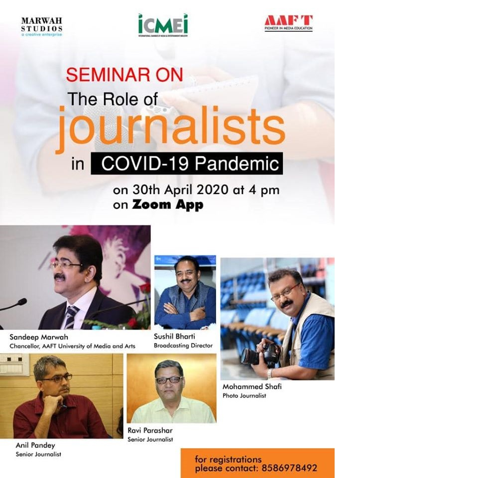 ICMEI Presented Webinar on Role of Journalists In Covid 19