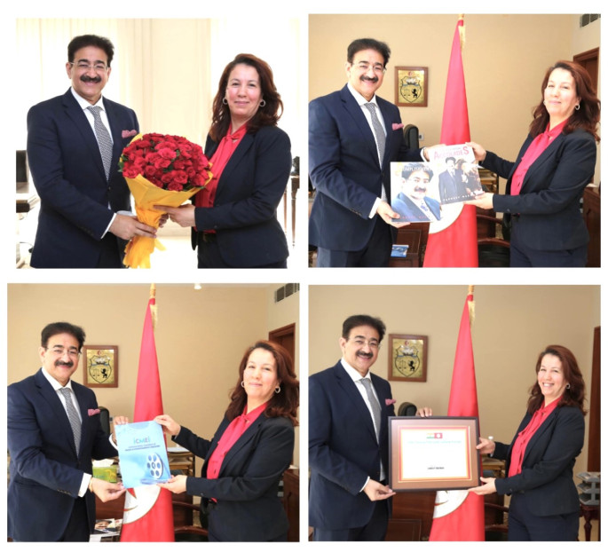 Hayet Talbi EP Bilel Patron to Indo Tunisia Cultural Forum