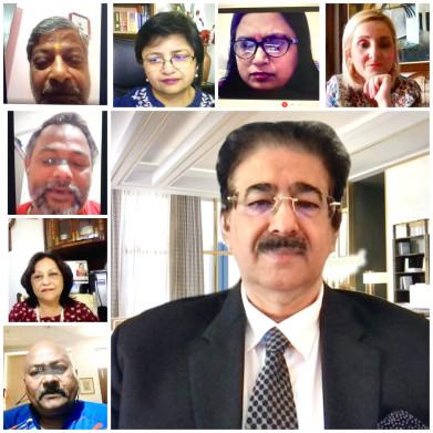 Sandeep Marwah Chaired Global Seas Board Meeting