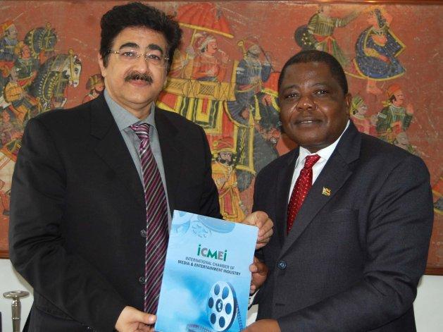 ICMEI Invited Ambassador of Zimbabwe to Noida Film City