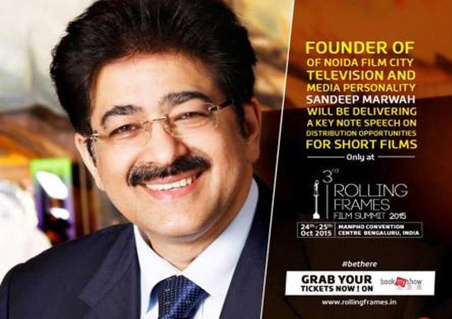 Sandeep Marwah Honored at 3rd Rolling Frames Film Festival
