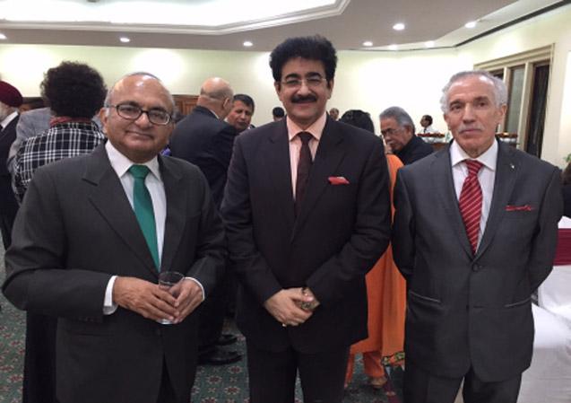 Ambassador Mahesh Sachdev, Sandeep Marwah & Hamza Yahia Cherif