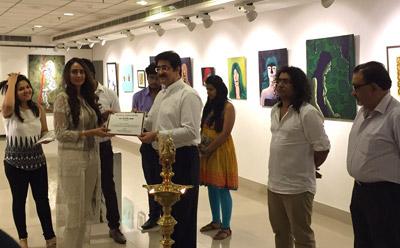 Art Exhibition Inaugurated by Sandeep Marwah at AIFACS
