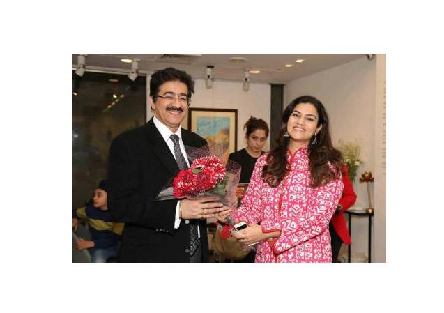 Global Cultural Minister Sandeep Marwah at India Art Fair