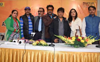Unit of Feature Film CHAL GURU HO JA SHURU at Marwah Studio