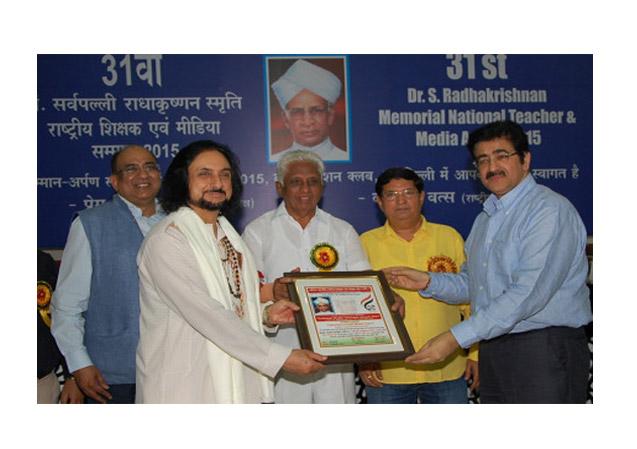"""Sandeep Marwah Honored on Teacher""""s Day"""