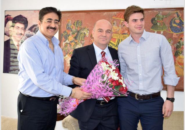 Sandeep Marwah With Amir Muharemi
