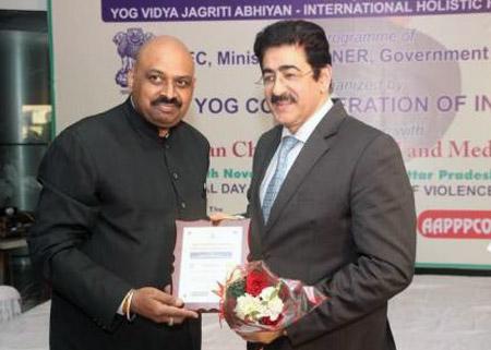 Sandeep Marwah Honored by IECSME